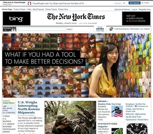 NY Times Page Takeover